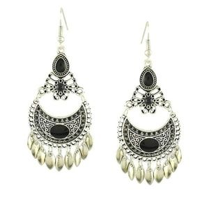 Women's Bohemian Fashion Silver Dangle Earrings